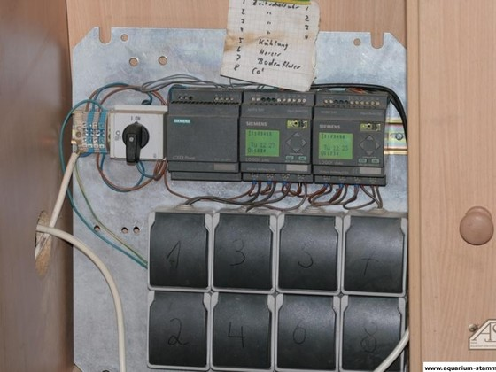 Siemens logos vom Auqarienkomputer angesteuert